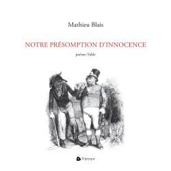 NOTRE PRÉSOMPTION D'INNOCENCE | Couverture